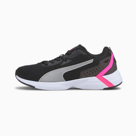 Space Runner SoftFoam+ Running Shoes, Black-White-Luminous Pink, small-IND