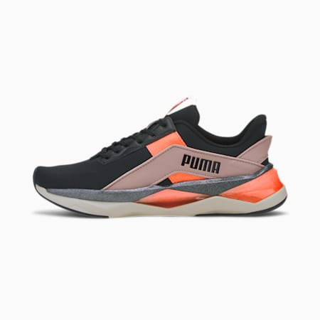 LQDCELL ShatterGeo Pearl Women's Training Shoes, Black-Peachskin-Nrgy Peach, small-IND