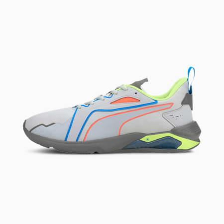 Zapatos de entrenamiento PUMA x FIRST MILE LQDCELL Method Xtremepara hombre, Lt Gray-Amarillo-Gris-Naranja, pequeño