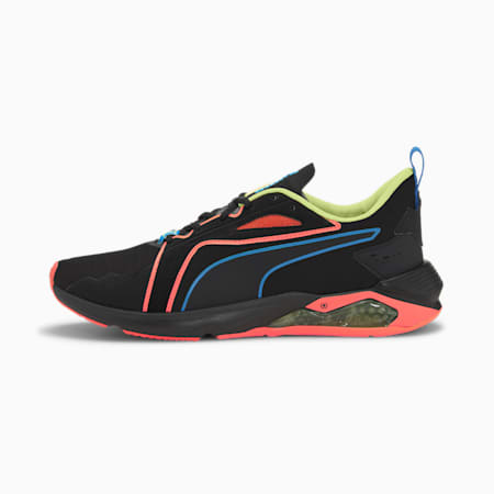 PUMA x FIRST MILE LQDCELL Method Xtreme Men's Training Shoes, Black-Orange-Yellow, small-IND