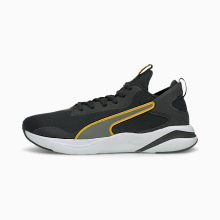 Zapatos para correr SoftRide Riftpara hombre, Puma Black-Mineral Yellow, pequeño