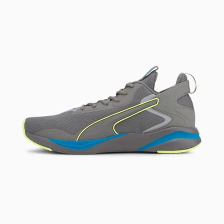 SOFTRIDE Rift Tech Men's Running Shoes, Ultra Gray-Fizzy Yellow, small