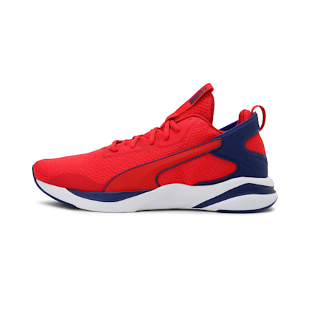 SOFTRIDE Rift Tech Men's Running Shoes, High Risk Red- Blue- White, small-IND