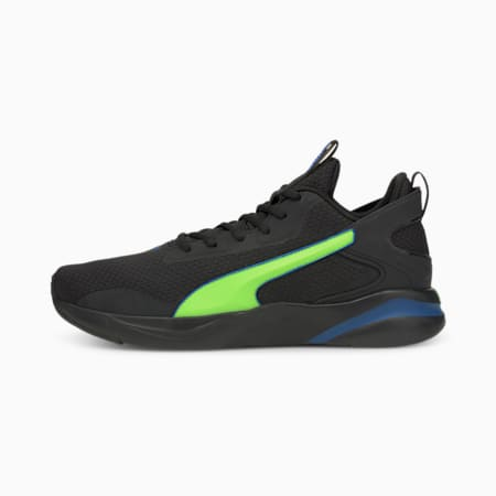 Softride Rift Tech Men's Running Shoes, Puma Black-Green Glare, small-IND
