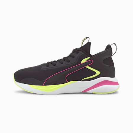 SOFTRIDE Rift Tech Women's Running Shoes, Puma Black-Fizzy Yellow, small-SEA