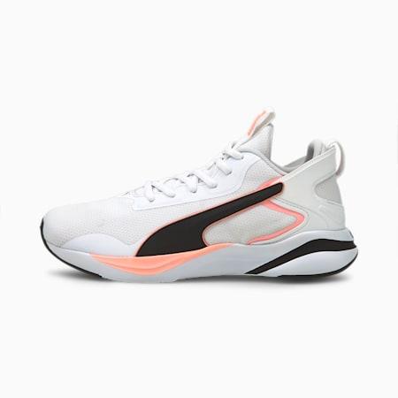 SOFTRIDE Rift Tech Women's Running Shoes, White-Black-Elektro Peach, small