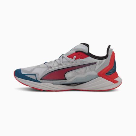Zapatillas de running para hombre UltraRide, Gray Violet-High Risk Red, small