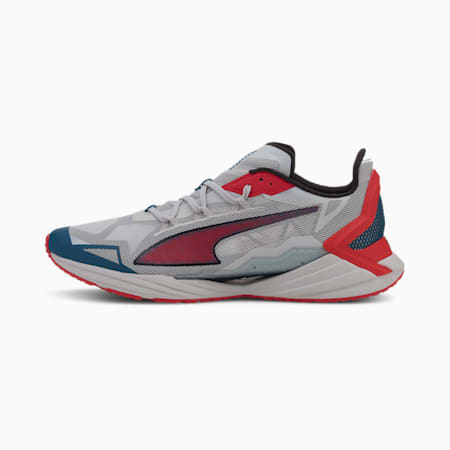 UltraRide Men's Running Shoes, Gray Violet-High Risk Red, small