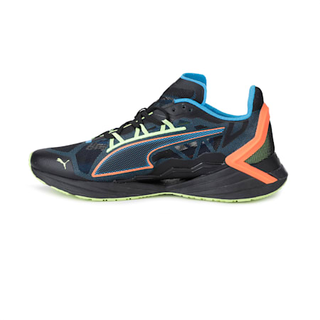 PUMA x FIRST MILE Ultra Ride Xtreme Men's Running Shoes, Black-Nrgy Blue-Ultra Orange, small-IND