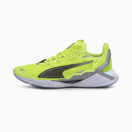 PUMA x FIRST MILE Ultra Ride Xtreme hardloopschoenen voor heren, Fizzy Yellow-Black-Silver, small