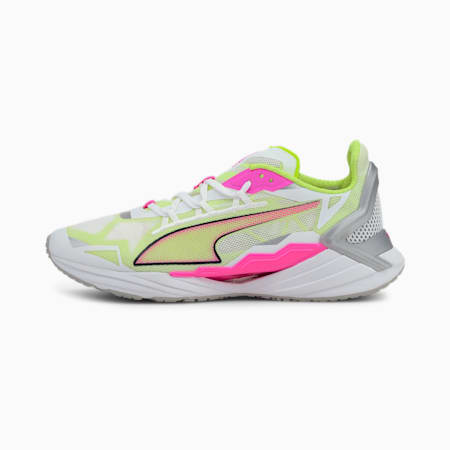 Chaussures de course UltraRide femme, White-Luminous Pink-Yellow, small