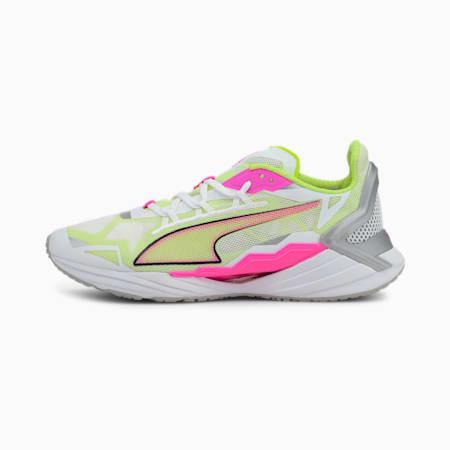UltraRide Women's Running Shoes, White-Luminous Pink-Yellow, small