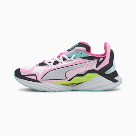 UltraRide Women's Running Shoes, Puma White- Black-ARUBA BLUE, small
