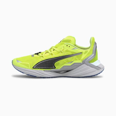 PUMA x FIRST MILE UltraRide Xtreme hardloopschoenen voor dames, Fizzy Yellow-Black-Silver, small