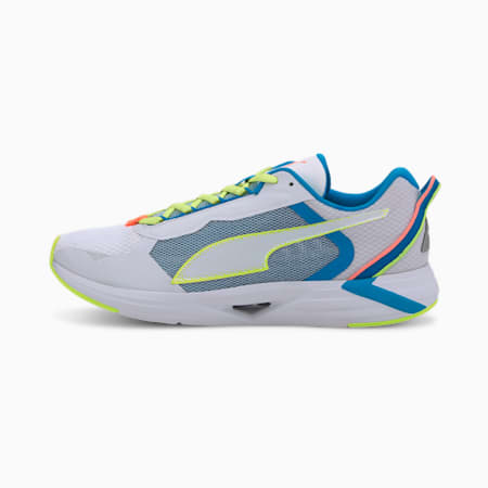Chaussures de course Minima homme, White-Nrgy Blue-Fizzy Yellow, small