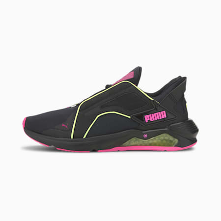 Chaussure d'entraînement PUMA x FIRST MILE LQDCELL Method Xtreme pour femme, Black-Yellow-Luminous Pink, small