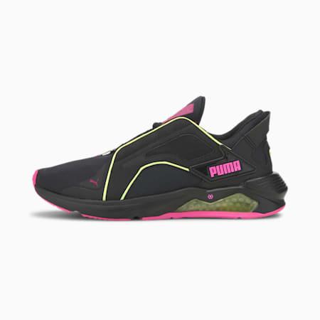 Scarpe da training PUMA x FIRST MILE LQDCELL Method Xtreme da donna, Black-Yellow-Luminous Pink, small