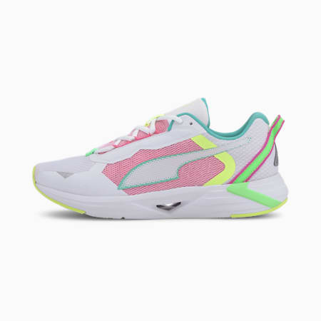 Minima Women's Running Shoes, White-BLUE-Elektro Green, small