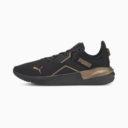 Platinum Metallic Women's Training Shoes, Puma Black-Gold, small