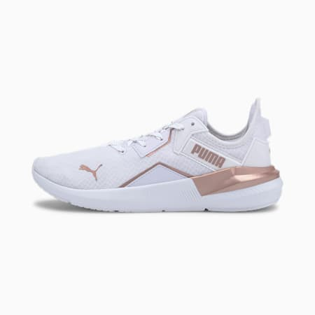 Platinum Metallic Women's Training Shoes, Puma White-Rose Gold, small-SEA