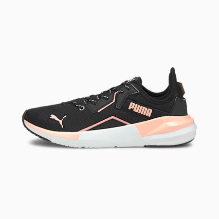 Zapatos para entrenamiento Platinum Metallic para mujer, Peach-Black-White, pequeño