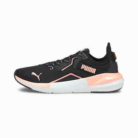 Platinum Metallic Women's Training Shoes, Peach-Black-White, small-SEA