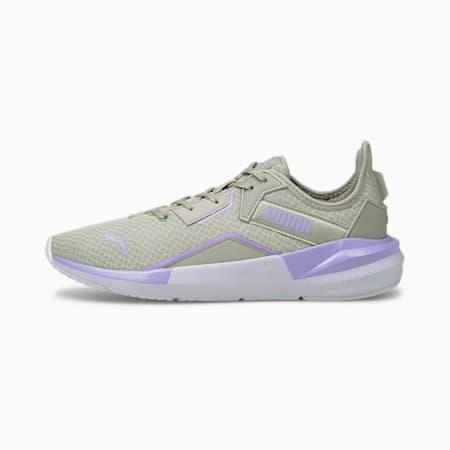 Zapatos para entrenamiento Platinum Metallic para mujer, Gray Violet-White-Lavender, pequeño