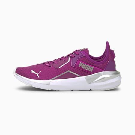 Platinum Metallic SoftFoam+ Women's Training Shoes, Byzantium-Puma White-Metallic Silver, small-IND