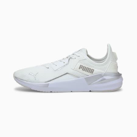 Zapatos para entrenamiento Platinum Metallic para mujer, Gray Violet-Puma White-Metallic Silver, pequeño