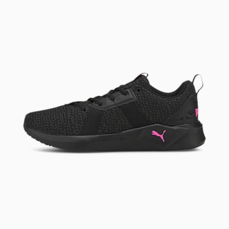 Damskie buty treningowe Chroma Knit, Black-Asphalt-Luminous Pink, small