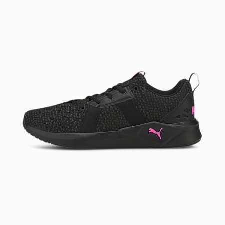 Chroma Knit Women's Training Shoes, Black-Asphalt-Luminous Pink, small