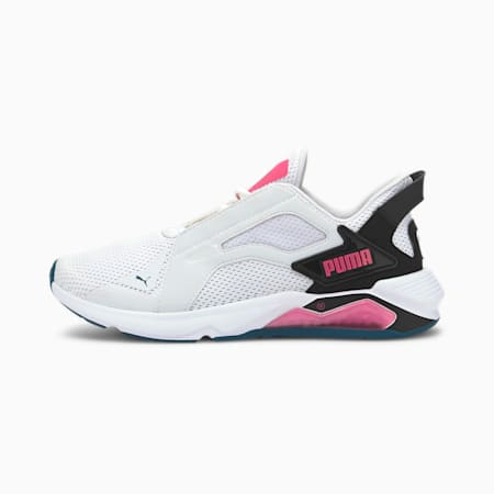 LQDCELL Method Women's Training Shoes, Puma White-Puma Black-Pink, small-IND