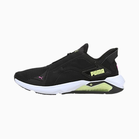 LQDCELL Method Women's Training Shoes, Puma Black-Fizzy Yellow-Luminous Pink, small-IND