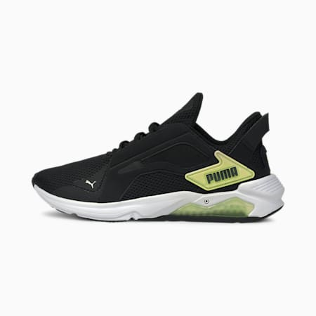 LQDCELL Method Women's Training Shoes, Puma Black-SOFT FLUO YELLOW, small-SEA