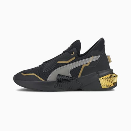 Zapatos de entrenamientoProvokeXT para mujer, Puma Black-Puma Team Gold, pequeño