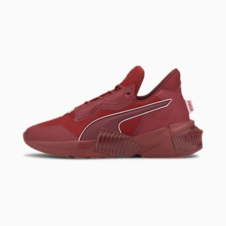 PUMA x FIRST MILE Provoke XT Mono trainingsschoenen voor dames, Red Dahlia-Metallic Silver, small