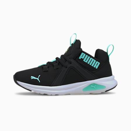 Enzo 2 Glow Sneakers JR, Puma Black-ARUBA BLUE, small