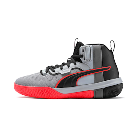Legacy Disrupt Basketball Shoes JR, Puma Black-Red Blast, small