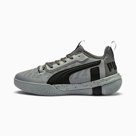 Legacy Low Youth Basketball Shoes, Puma Black-Quarry, small