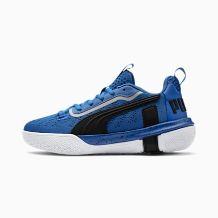 Legacy Low Youth Basketball Shoes, Strong Blue-Puma Black, small