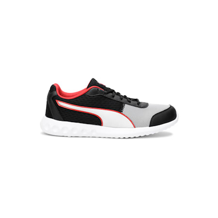 Cario Block Men's Running Shoe, High Risk Red-Black-Silver, small-IND