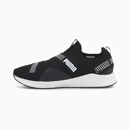 NRGY Star Slip-On Mesh Running Shoes, Puma Black-Puma White, small-IND
