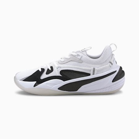RS-Dreamer Ebony and Ivory Basketball Shoes, Puma White-Puma Black, small