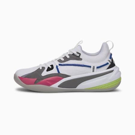Zapatos de básquetbol RS-Dreamer, Puma White-Steel Gray, pequeño