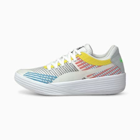Clyde All-Pro Basketball Shoes, Puma White-Blue Atoll, small