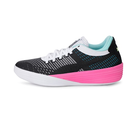 Clyde All-Pro Basketball Shoes, Puma Black-Luminous Pink, small