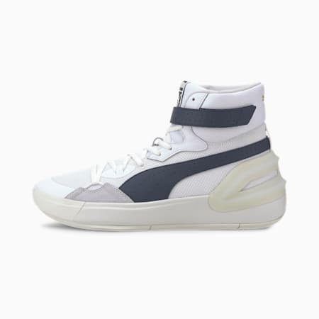 Sky Modern Basketball Shoes, Puma White-Peacoat, small