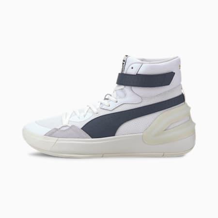 Sky Modern Basketball Shoes, Puma White-Peacoat, small