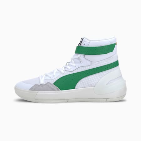 Sky Modern ProFoam Basketball Shoes, Puma White-Amazon Green, small-IND