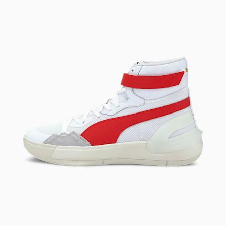 Sky Modern Basketball Shoes, Puma White-High Risk Red, small